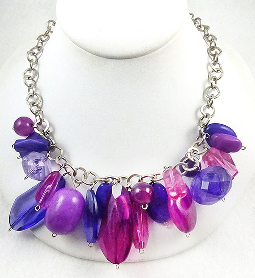Newly Added Purple Lucite Beads Necklace