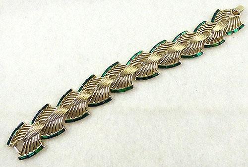 Kramer - Kramer Green Rhinestone Baguette Bracelet