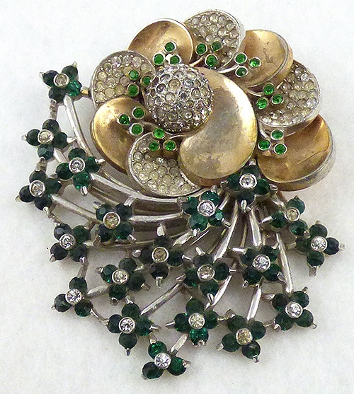 Pennino - Pennino Green Floral Spray Brooch