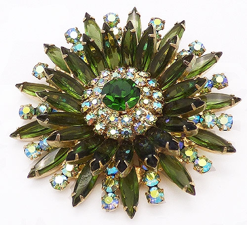 DeLizza & Elster/Juliana - DeLizza and Elster Green Starburst Brooch