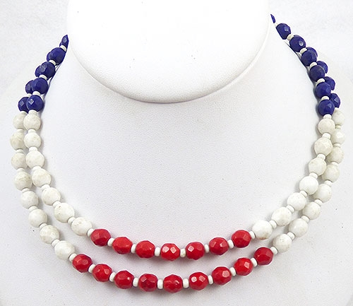 Hobé - Hobé Patriotic Glass Bead Necklace