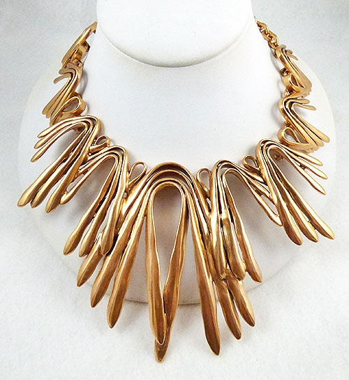 Newly Added Oscar de La Renta Bent Rods Necklace