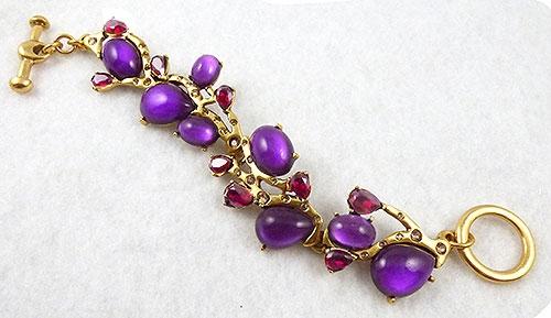 Collectible Contemporary - Oscar de La Renta Purple Cabochon Bracelet