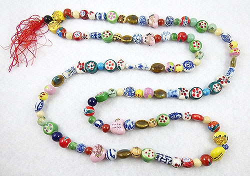 China - Chinese Porcelain Beads Necklace