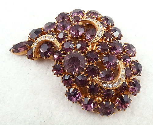 Newly Added Amethyst Rhinestone Brooch