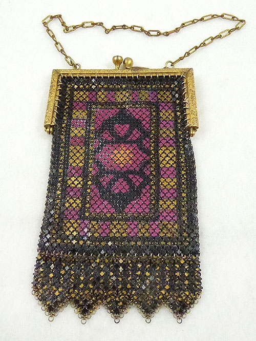 Newly Added Mandalian Enamel Mesh Purse