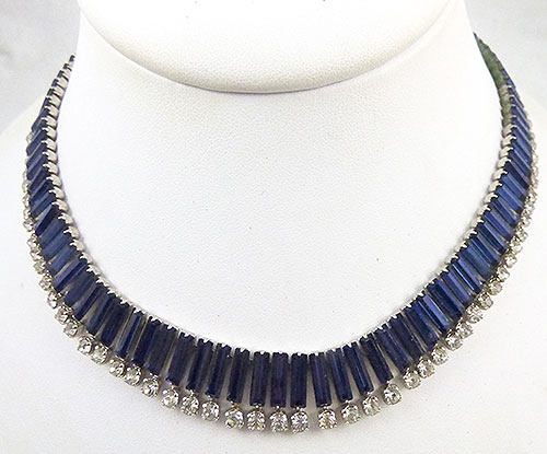 Colors for Fall-Winter 2018-2019 - Kramer Sapphire Baguette Necklace