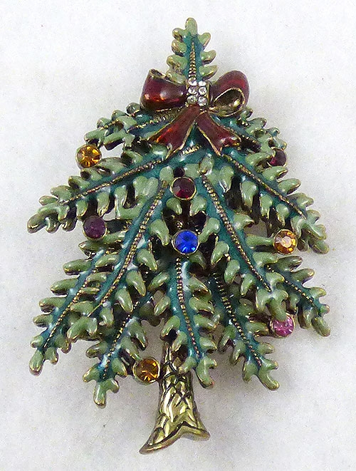 Christmas and Holidays - Avon 2004 Christmas Tree Brooch