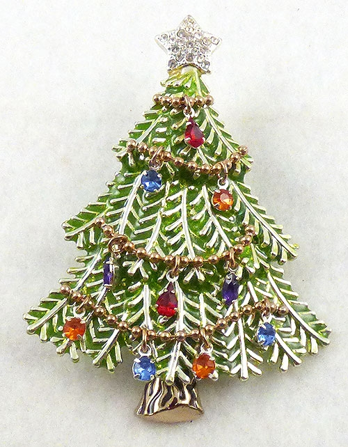 Brooches - Avon 2008 Christmas Tree Brooch