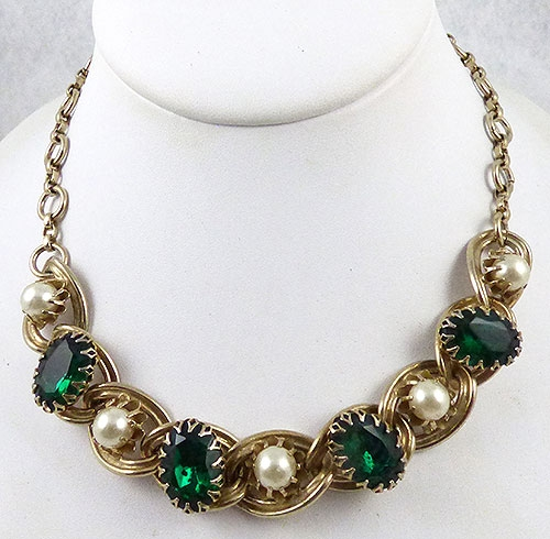 Kafin - Kafin NY Green Rhinestone Necklace