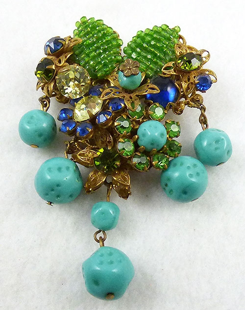 Brooches - Amourelle (Kramer) Seed Bead Brooch