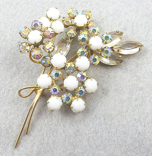 Brooches - DeLizza and Elster Floral Bouquet Brooch
