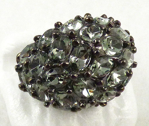 Rings - Kenneth Lane Black Diamond Rhinestone Ring