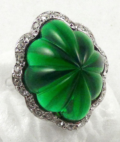 Rings - Kenneth Lane Simulated Emerald Ring