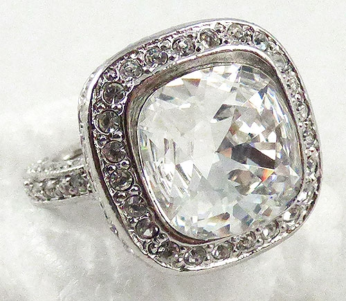 Rings - Kenneth J. Lane Square Rhinestone Cocktail Ring