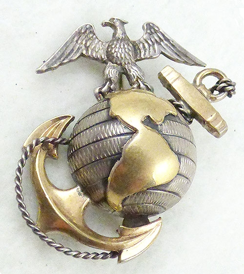 Brooches - Sterling Marine Corps Sweetheart Brooch
