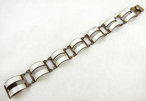 Bracelets - Arne Nordlie White Enamel Sterling Bracelet