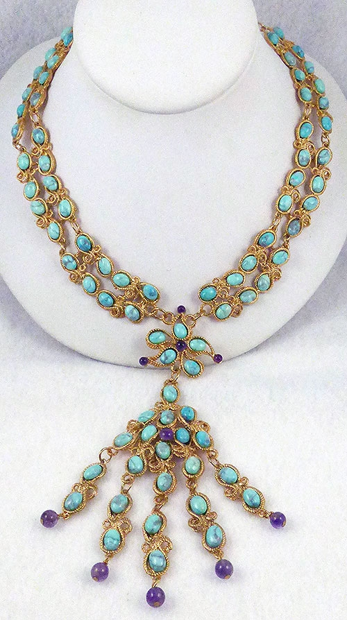 Swoboda - Swoboda Turquoise Dangle Necklace