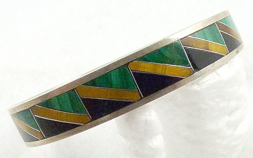 Mexico - Taxco Sterling Inlay Bracelet