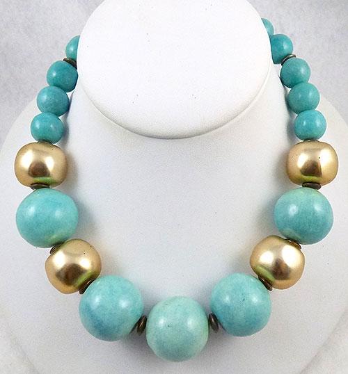 Les Bernard - Les Bernard Turquoise Bead Necklace