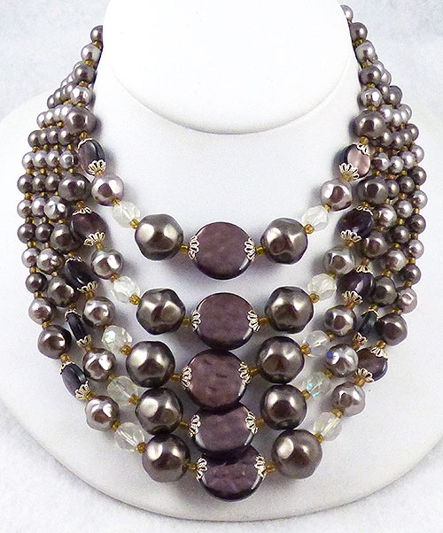 Japan - Japan Chocolate and Tahitian Faux Peal Necklace