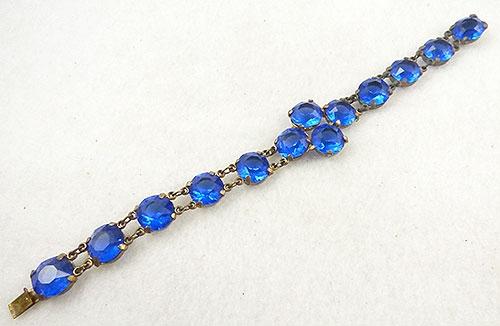 Bracelets - Czech Cobalt Rhinestone Bracelet
