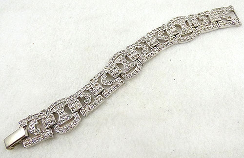 Bracelets - Art Deco Rhinestone Bracelet