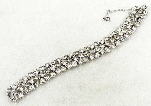 Newly Added Square Crystal Rhinestones Bracelet