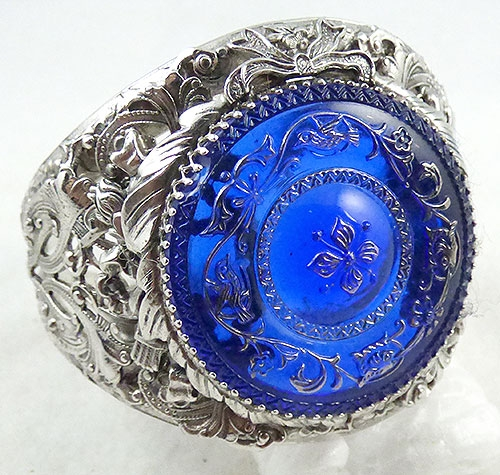 Whiting & Davis - Whiting and Davis Blue Medallion Bracelet