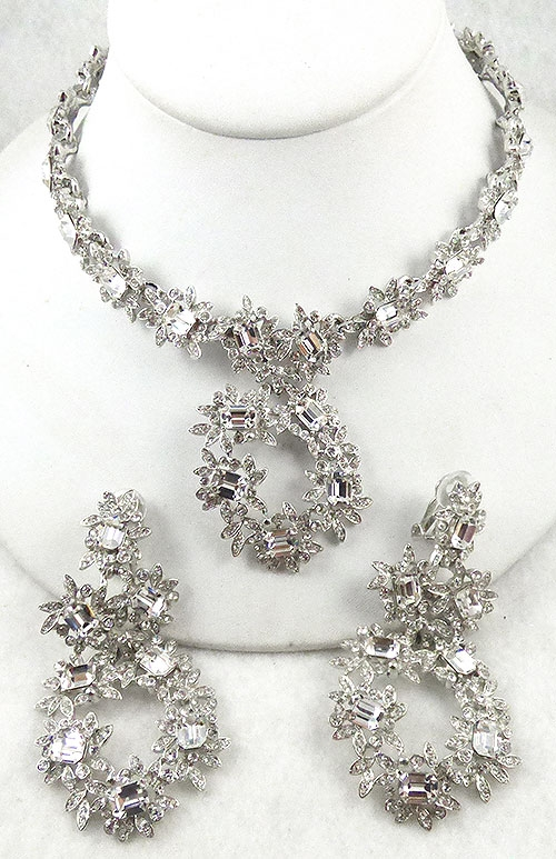 Lane, Kenneth J. - Kenneth Lane Rhinestone Necklace Set