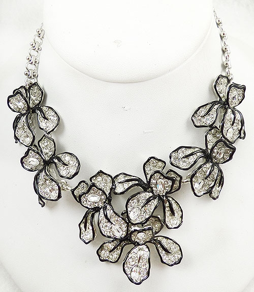 Lane, Kenneth J. - Kenneth J. Lane Rhinestone Orchid Necklace