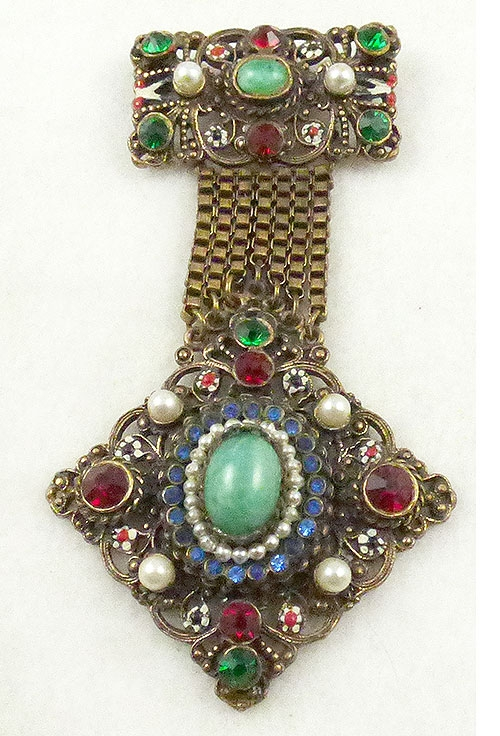 Hollycraft - Hollycraft Austro Hungarian Revival Brooch