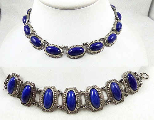 Pantone Color of the Year 2020 - Lapis Glass Necklace and Bracelet Demi