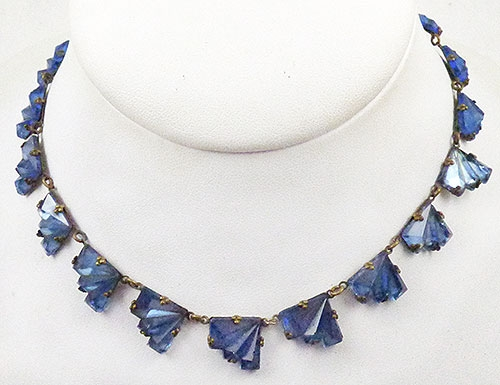 Pantone Color of the Year 2020 - Czech Blue Vauxhall Glass Necklace