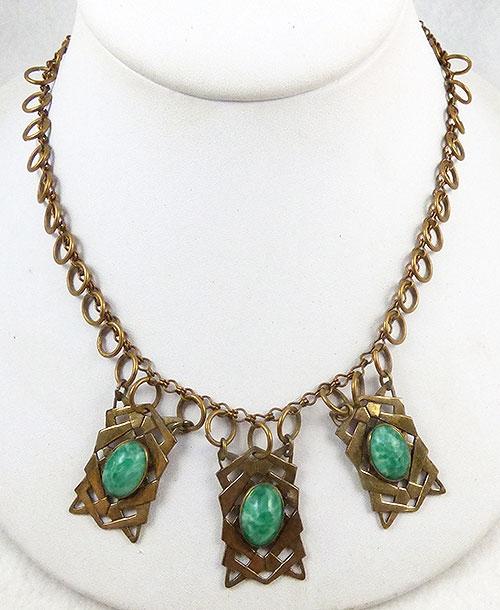 Art Deco - Art Deco Peking Glass Necklace