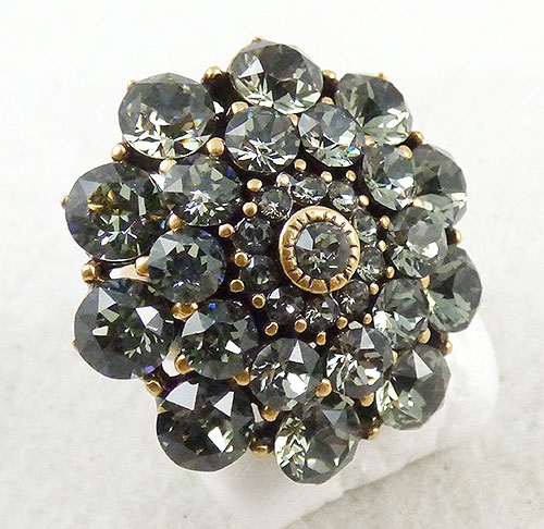Newly Added Ocar de La Renta Black Diamond Crystal Ring