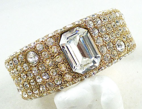 Newly Added Rhinestone Encrusted Cuff Bracelet