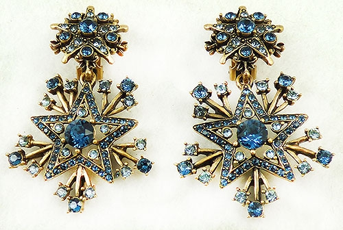 Atomic & Celestial - Oscar de La Renta Blue Star Earrings