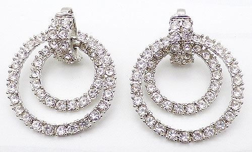 Lane, Kenneth J. - Kenneth Lane Rhinestone Door Knocker Earrings
