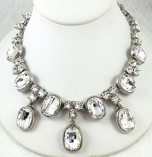 Necklaces - Oscar de La Renta Rhinestone Statement Necklace