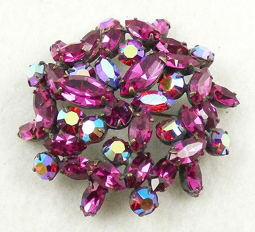 Colors for Fall-Winter 2018-2019 - Regency Fuchsia Rhinestone Brooch
