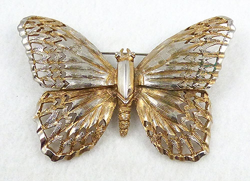 Brooches - Schrager Gold Butterfly Brooch