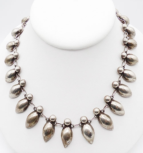 Newly Added Mexican Sterling Silver Peppers Necklace
