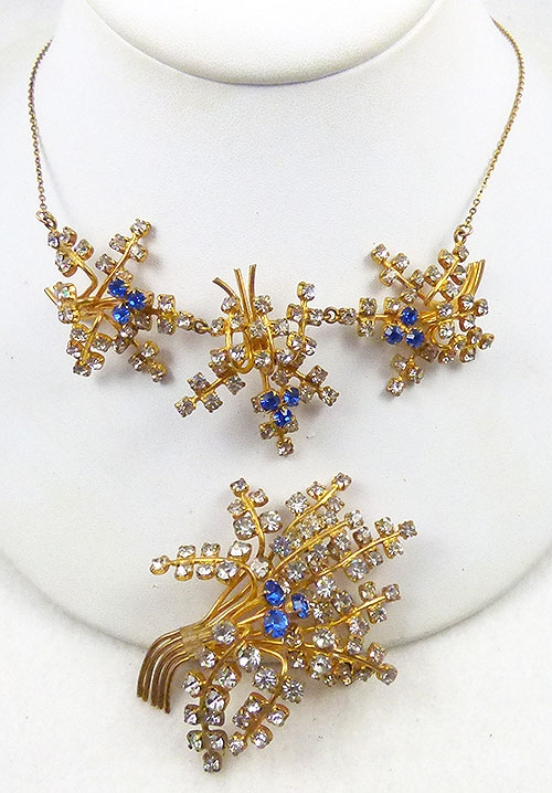 Newly Added Austrian Rhinestone Floral Demi-Parue