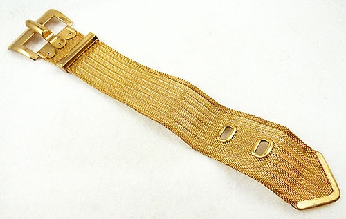 Newly Added Gold Plated Mesh Buckle Bracelet