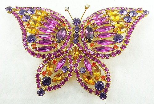 Brooches - DeLizza an Elster Butterfly Brooch