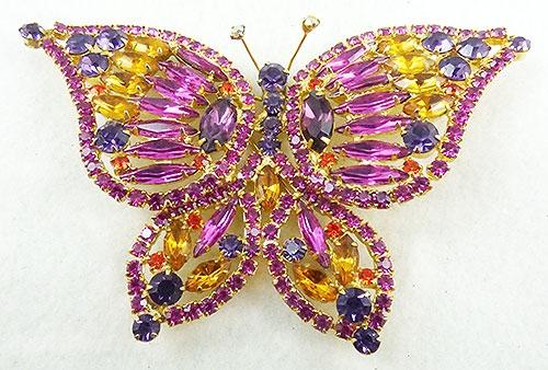 Figural Jewelry - Butterflies & Bugs - DeLizza an Elster Butterfly Brooch