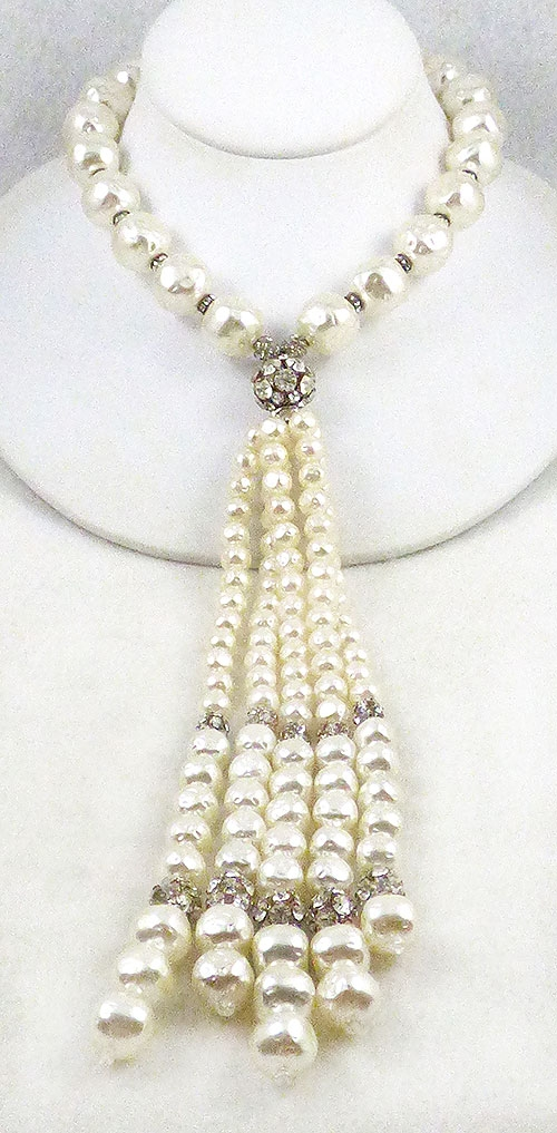 Newly Added Artificial Pearl Tassel Necklace