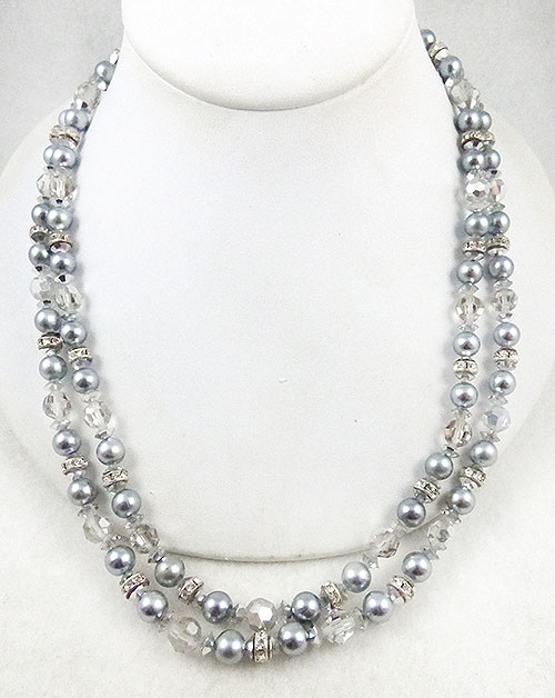 Newly Added Simulated Tahitian Pearl Rondelle Necklace