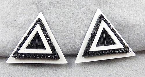 Kramer - Kramer Black and White Triangle Earrings